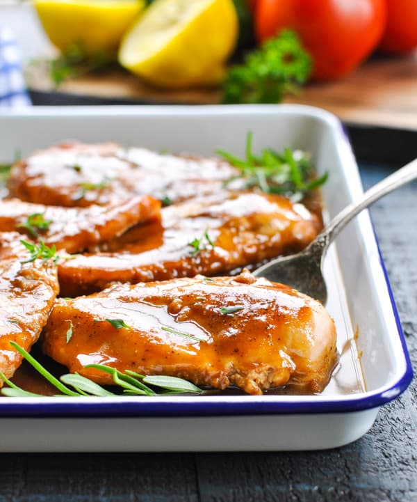 Try some maple glazed baked chicken for an easy dinner recipe tonight!