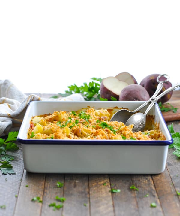 Love an easy one pot meal like this ham and potato casserole!