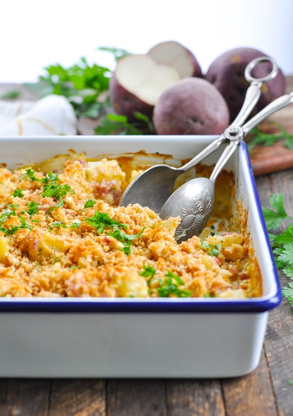 Dump and Bake Ham and Potato Casserole is an easy dinner recipe for busy nights!