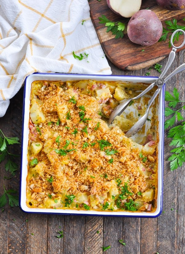 Ham and Potato Casserole is an easy one dish dinner!