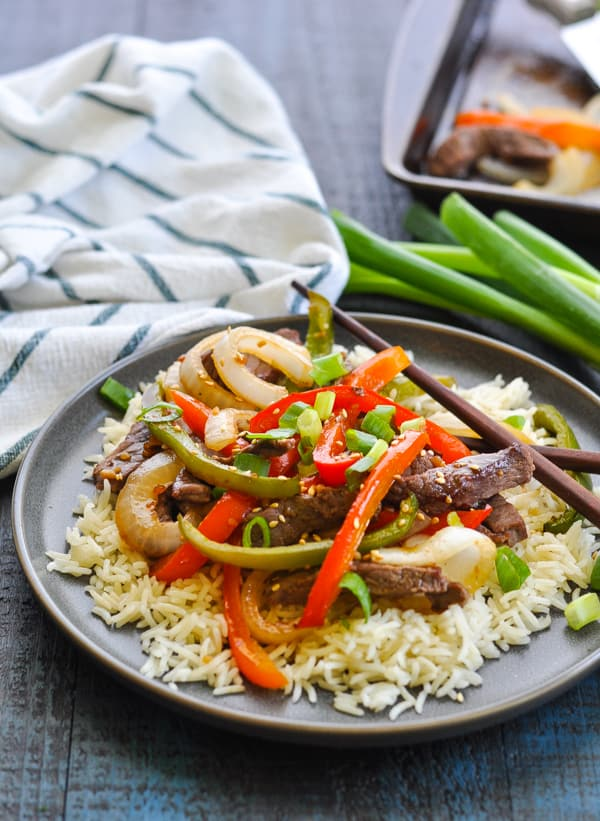 Bake Chinese Pepper Steak in the oven for an easy and healthy dinner recipe!