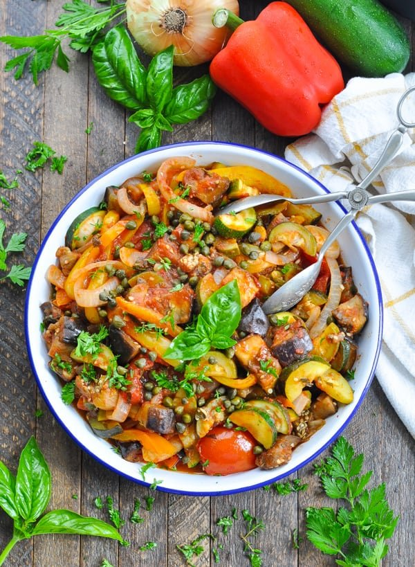 Baked ratatouille for an easy side dish recipe