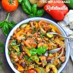 Baked ratatouille is a healthy summer vegetable side dish!