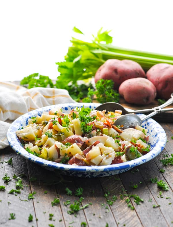 Serve German Potato Salad with your grilled beer brats!