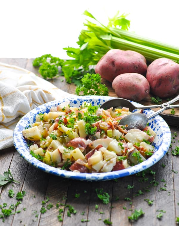 Everyone loves an easy potato salad recipe like this authentic German Potato Salad!