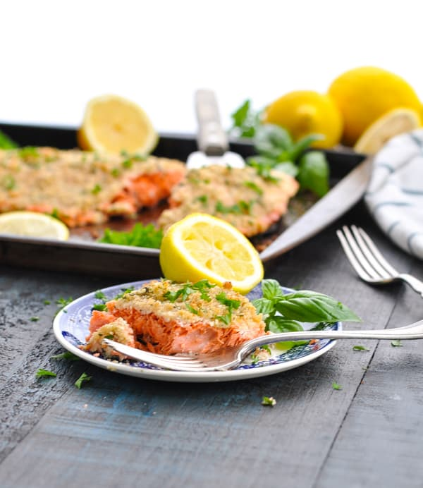 Try a simple and healthy baked salmon fillet for an easy dinner recipe tonight!