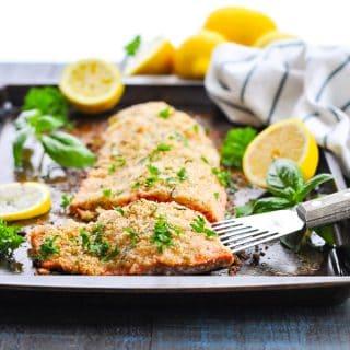Parmesan Herb Baked Salmon Fillet