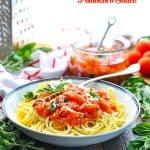 Serve an easy pomodoro sauce over spaghetti for dinner tonight!