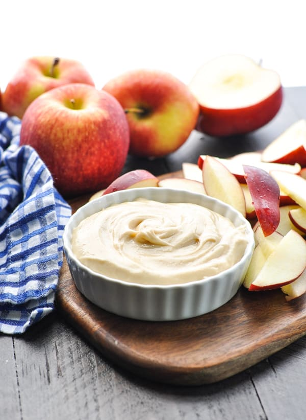 Snack ideas for kids are easy with this 4 ingredient apple dip