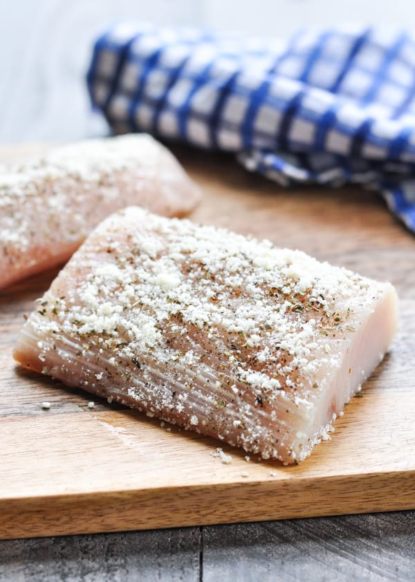 Mahi mahi fillet with italian seasoning