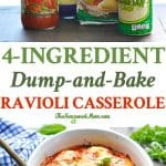 Baked ravioli casserole lasagna is just 4 ingredients for an easy dinner!