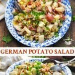 Long collage image of German Potato Salad