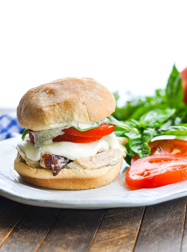 Grilled Chicken Caprese Sandwiches are the perfect easy dinner recipe for summer!