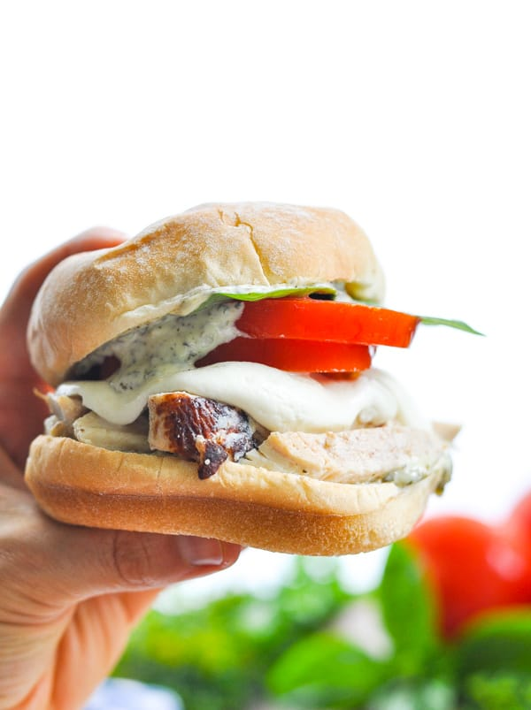 Grilled Chicken Caprese Sandwiches are full of fresh ingredients for a healthy dinner!