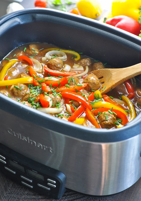 Crock Pot Meatballs with Vegetables