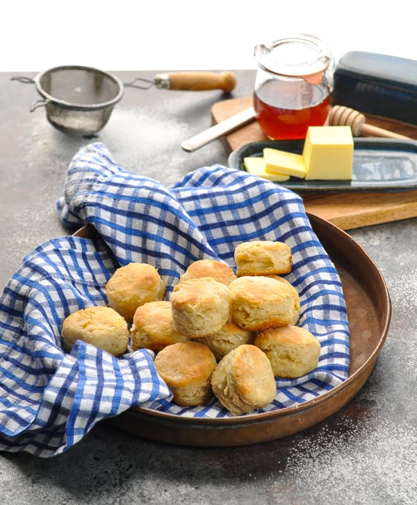 Tray of homemade biscuits