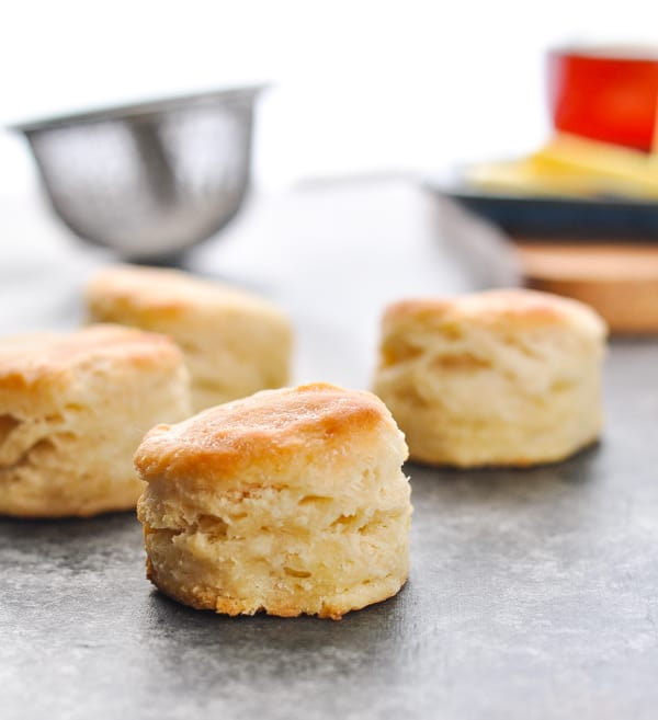 Fluffy and flaky homemade biscuits