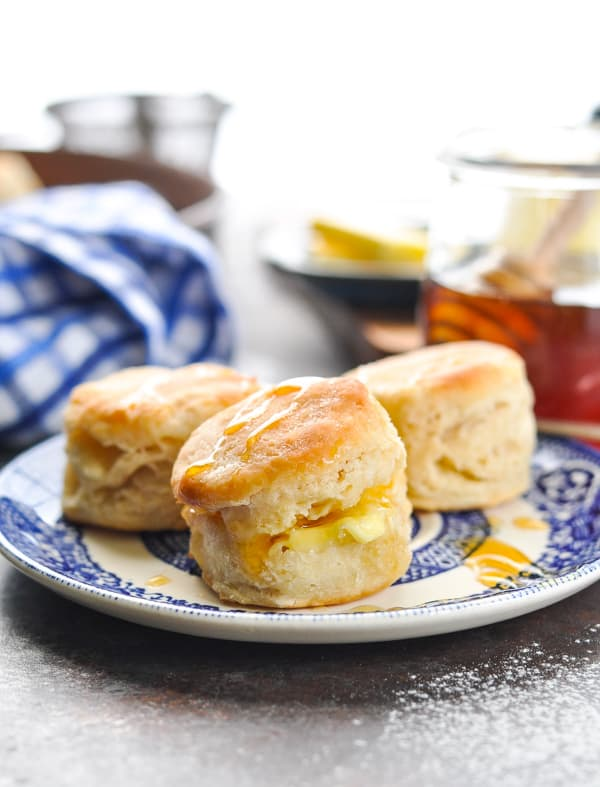 3 ingredient biscuits on a plate