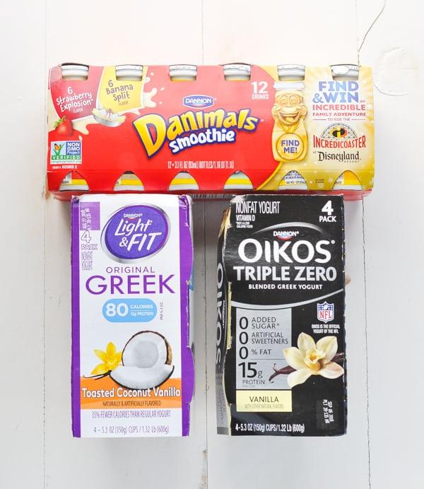 Dannon yogurt packaging