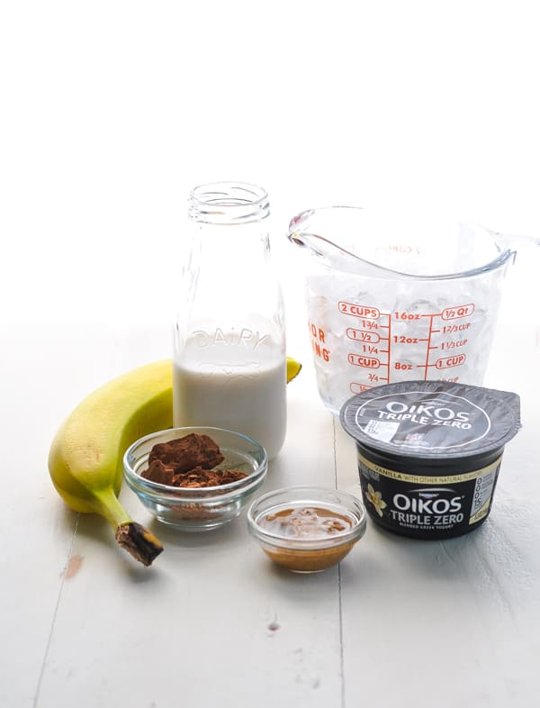 Chocolate Almond Smoothie Ingredients