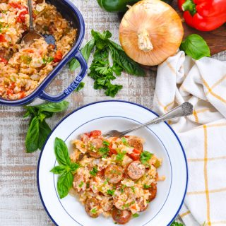 Dump-and-Bake Italian Sausage Recipe with Rice
