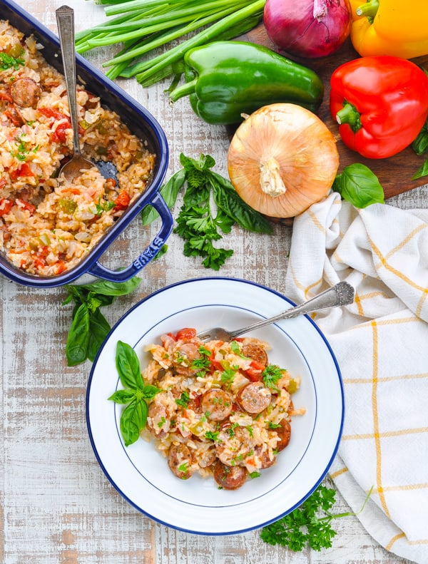 Italian sausage recipe with rice, bell peppers and onions