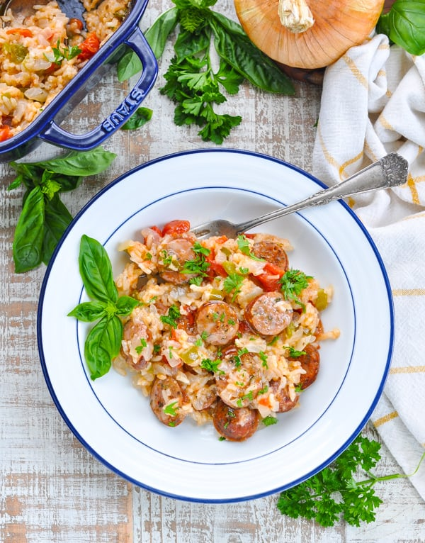 Italian sausage casserole for easy dinner recipe