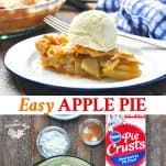 Long collage image of Easy Apple Pie recipe