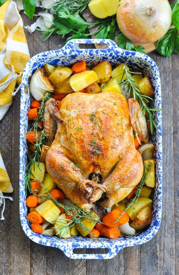 Crispy Roast Chicken With Vegetables The Seasoned Mom