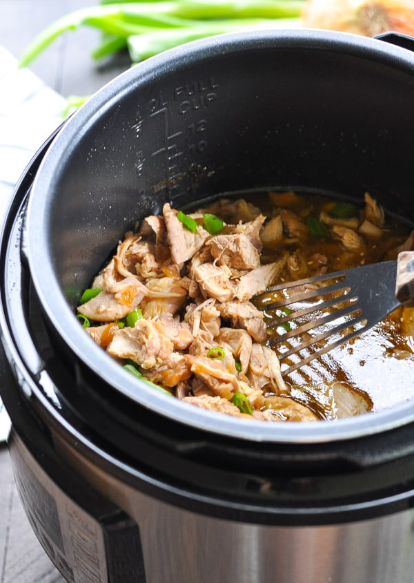 Garlic Sesame Chicken in the Instant Pot pressure cooker