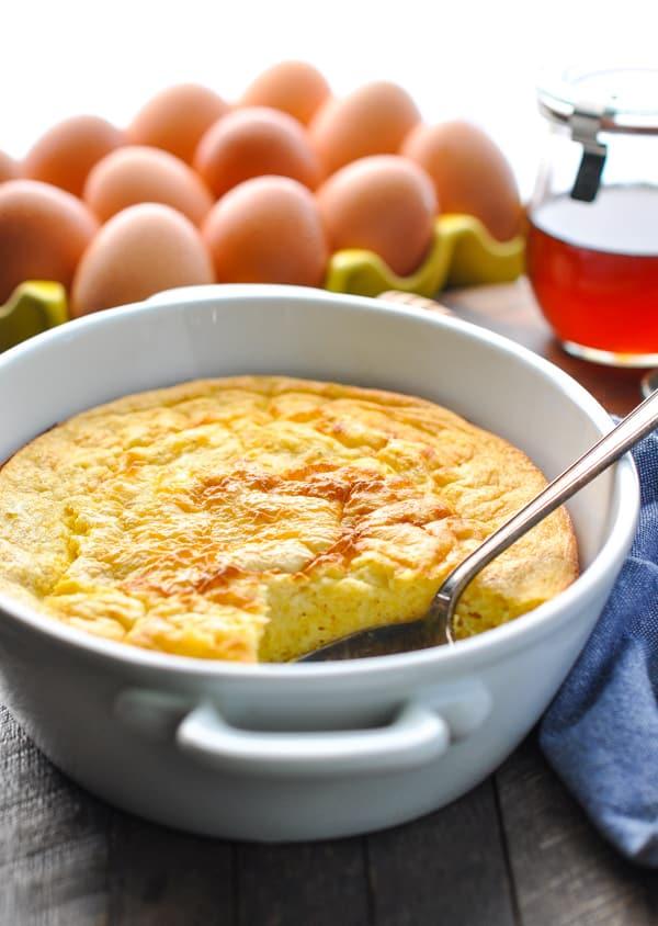 Easy spoon bread recipe in baking dish