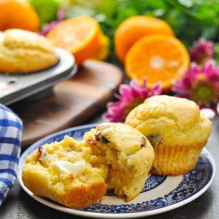 Orange Cranberry Corn Muffins