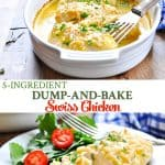 Long collage of baked chicken breast recipe