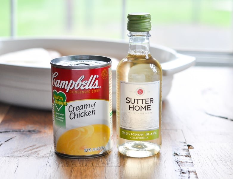 Cream of chicken soup and white wine for oven roasted chicken breast recipe