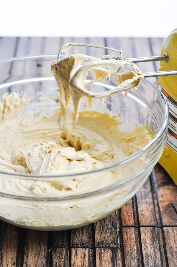 Batter with electric mixer for date bars