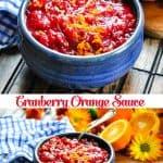 Long collage of Cranberry Orange Sauce recipe