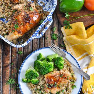 Dump-and-Bake Chicken Wild Rice Casserole