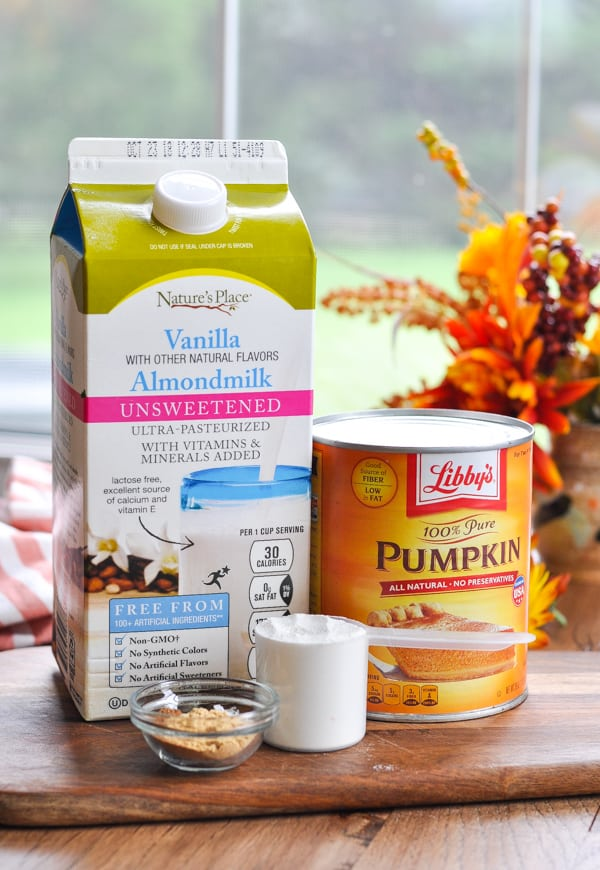 Ingredients for pumpkin smoothie