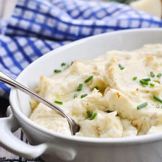 Make Ahead Garlic Mashed Potatoes