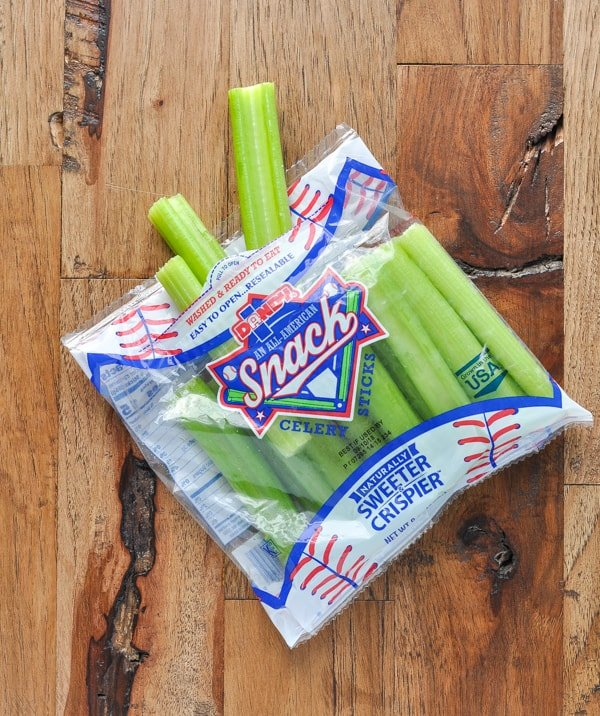 Snack pack of celery sticks