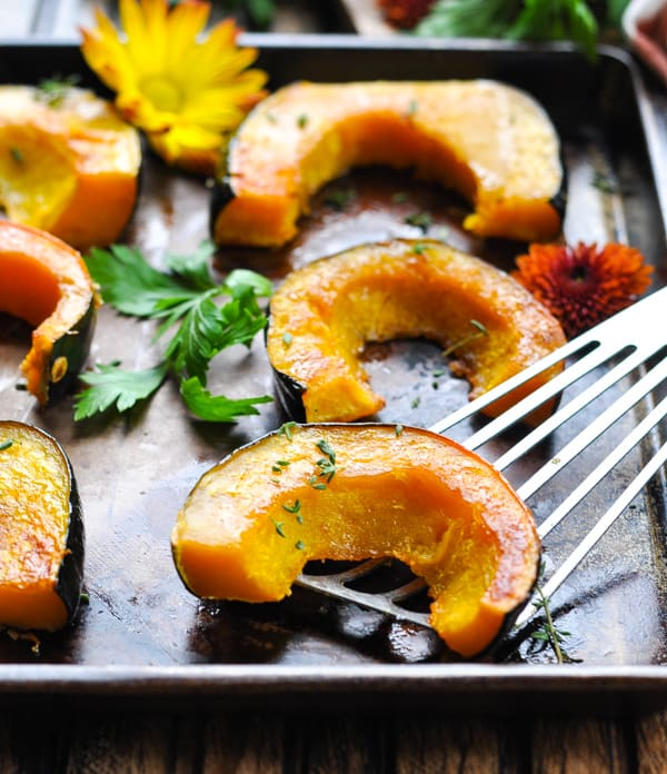 Brown Sugar Roasted Acorn Squash The Seasoned Mom