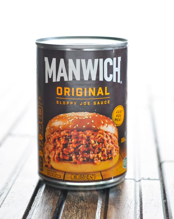 Can of Manwich sloppy joe sauce