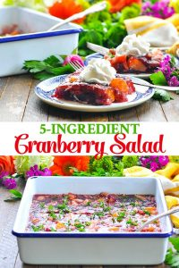 Long collage image of Cranberry Salad
