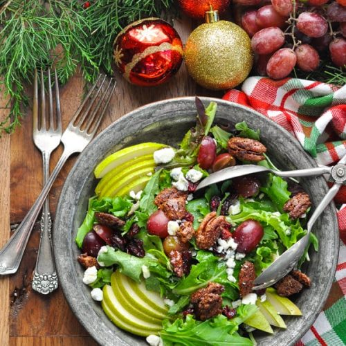 celebration salad with champagne vinaigrette recipe