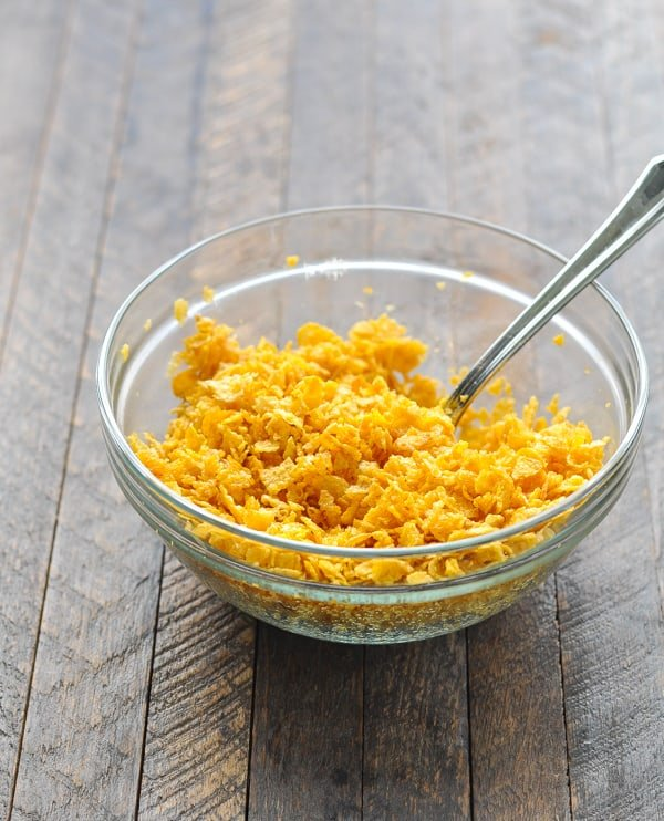 Corn Flakes for topping hash brown casserole