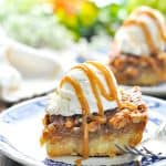 Easy Pecan Pie Bars with text overlay