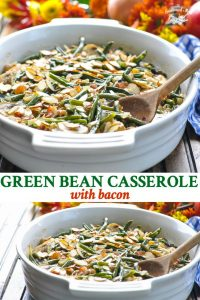Green Bean Casserole with Bacon long collage image