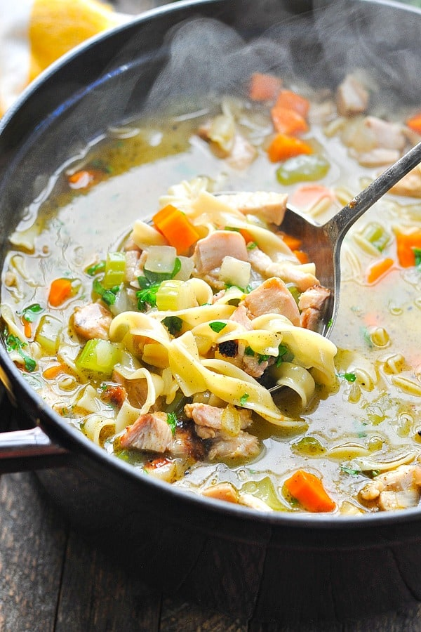 Quick And Easy Homemade Turkey Noodle Soup The Seasoned Mom
