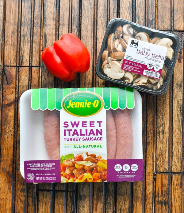 Italian sausage for pasta and other ingredients