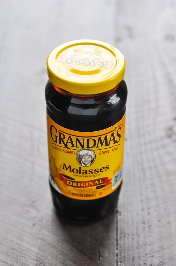 Jar of Grandma's Molasses for molasses cookie recipe